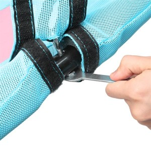 40 Inch Hexagon Swing, Textilene Swing with  2 Carabiners & Adjustable Rope(Pink & Blue)