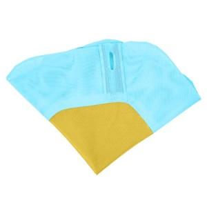 40 Inch Hexagon Swing, Textilene Swing with  2 Carabiners & Adjustable Rope(Blue & Yellow)