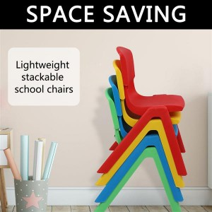 4-Piece Plastic Folding Chair With Backrest In Four Colors