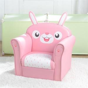 Children's Single Sofa Cute Series Rabbit Model American Standard Pu Dark Pink