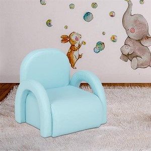 Children's Single  Sofa Rainbow Section Sky Blue