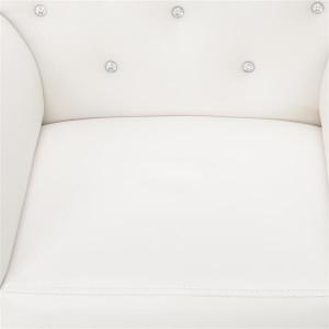 Children Sofa PVC Leather Princess Sofa Mini Sofa Bright White