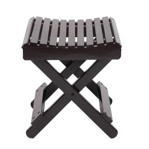 [US-W]Children Multi-function Collapsible Bamboo Stool Brown
