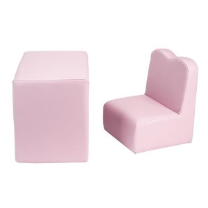 Children Sofa Multi-Functional Sofa Table and Chair Set Pink