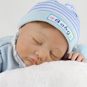 "22"" Handmade Reborn Newborn Dolls Vinyl Silicone Baby Boy Doll Birthday Gifts"