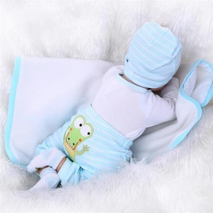 """22"""" Mini Cute Simulation Baby Toy in Crocodile Pattern Clothes Blue"""