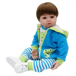 """24"""" Beautiful Simulation Baby Girl Reborn Baby Doll in Frog Dress"""