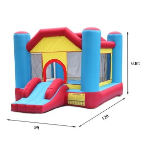 12ft x 9ft x 7ft Indoor Outdoor Inflatable Castle Bounce House For Kids