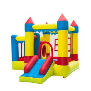 3.2*3*2.5m 420D Thick Oxford Cloth Inflatable Bounce House Castle Ball Pit Jumper Kids Play Castle Multicolor