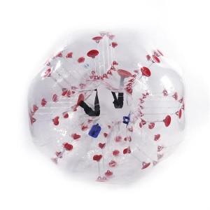 1.5M PVC Inflatable Bumper Bubble Ball Red Dot