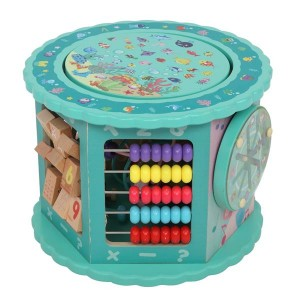 Wooden Toys Eight-In-One Function Winding Beads/Side Bead/Sea World Color Elements