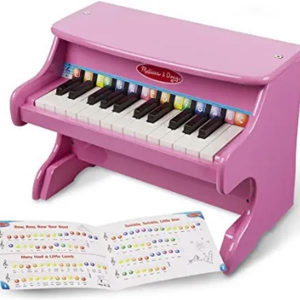 Wooden Toys: 25-key Children's Wooden Piano / Vertical (without Chair) Mechanical Sound Quality Pink