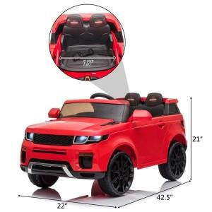 12V Kids Ride On Car 2.4GHZ Remote Control LED Lights Red