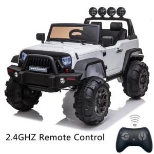 12V Kids Ride On Car SUV MP3 2.4GHZ Remote Control LED Lights White