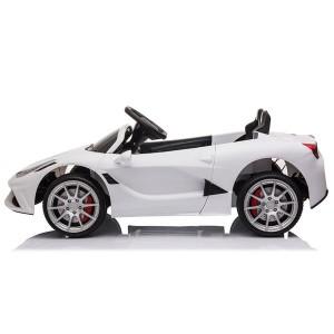 12V Kids Ride On Sports Car 2.4GHZ Remote Control White