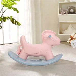 High Quality Plastic Cute Rocking Horse for Kids gift Pink Color