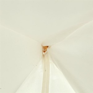 4pcs Wooden Poles Teepee Tent for Kids Raw White