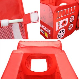 Fire Engine Design Folding Portable Playpen Tent Play Yard Red